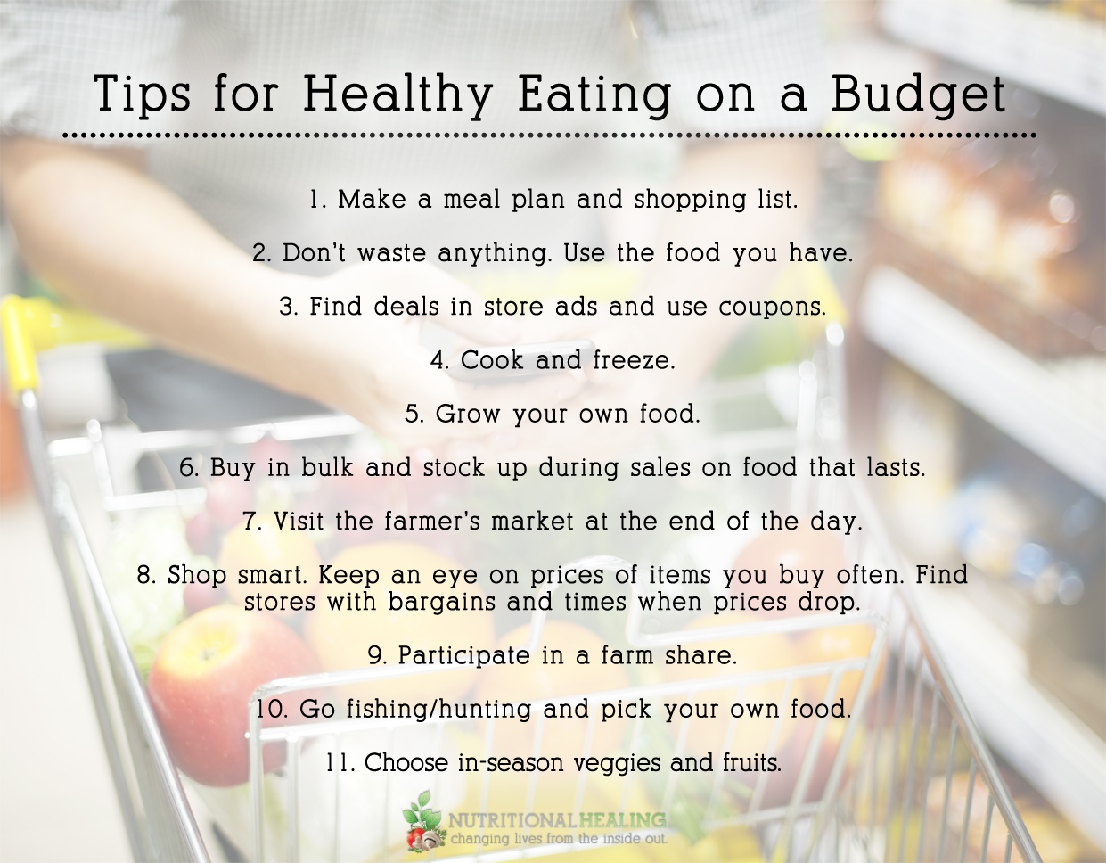 Tips For Healthy Eating On A Budget Nutritional Healing regarding Eating Healthy On A Budget