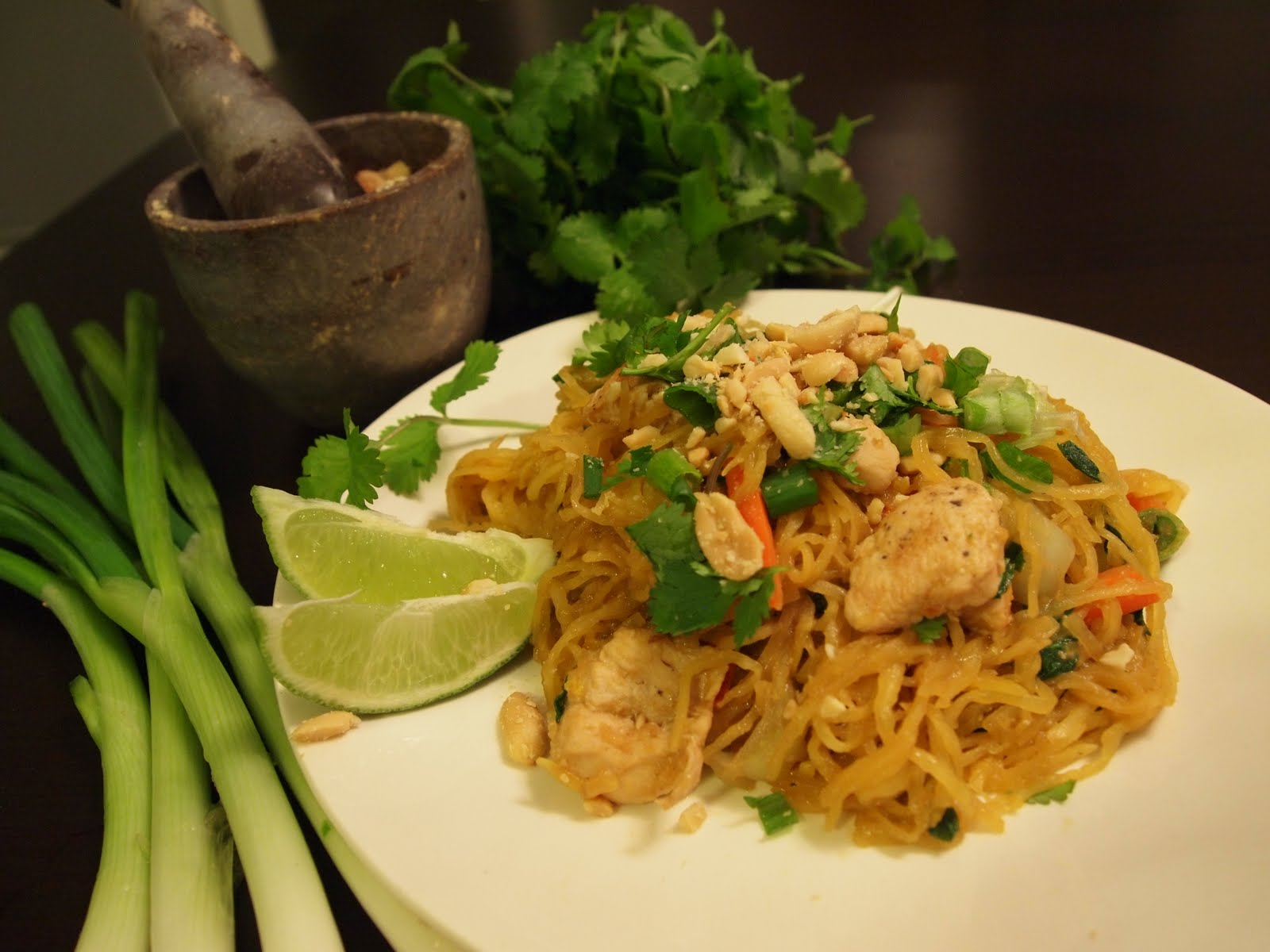 kim 39 s chicken pad thai made with spaghetti squash nutritional healing. Black Bedroom Furniture Sets. Home Design Ideas