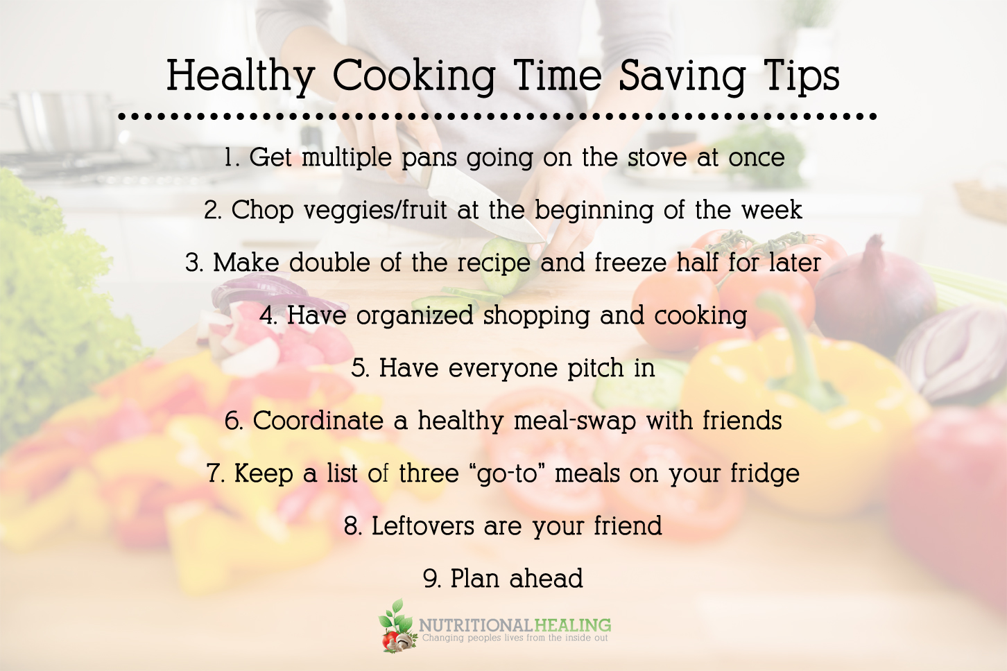 Healthy cooking time saving tips nutritional healing - Five easy cleaning tips get some time for yourself ...
